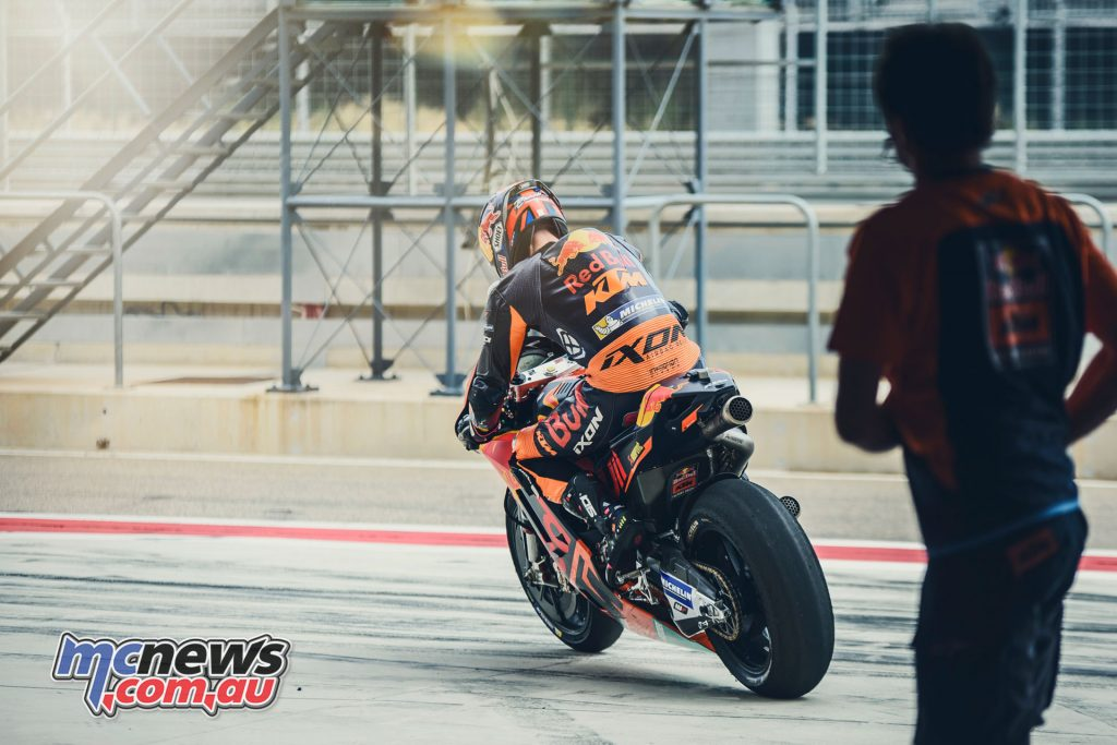 Bradley Smith at the Aragon Test