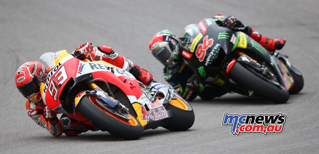 Marc Marquez stamped his dominance as Sachsenring with Jonas Folger close behind to take second on home ground