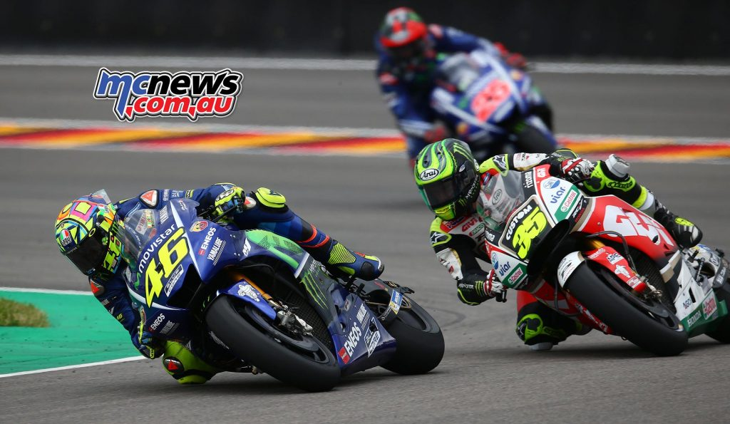 Rossi leads Crutchlow and Vinales at Sachsenring - Image by AJRN