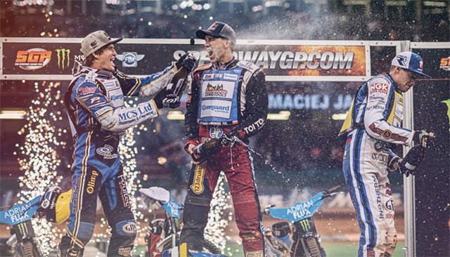 Jason Doyle on the SGP podium