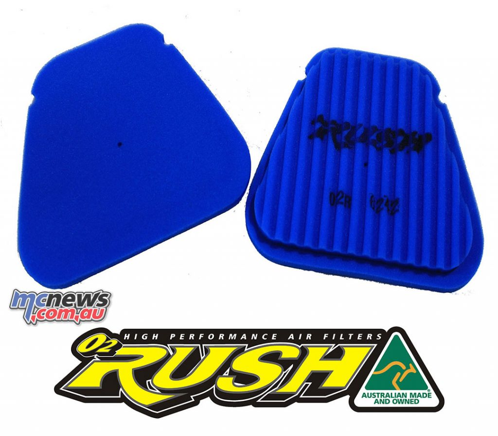 UniFilter O2Rush airfilter for the 2018 YZ450F
