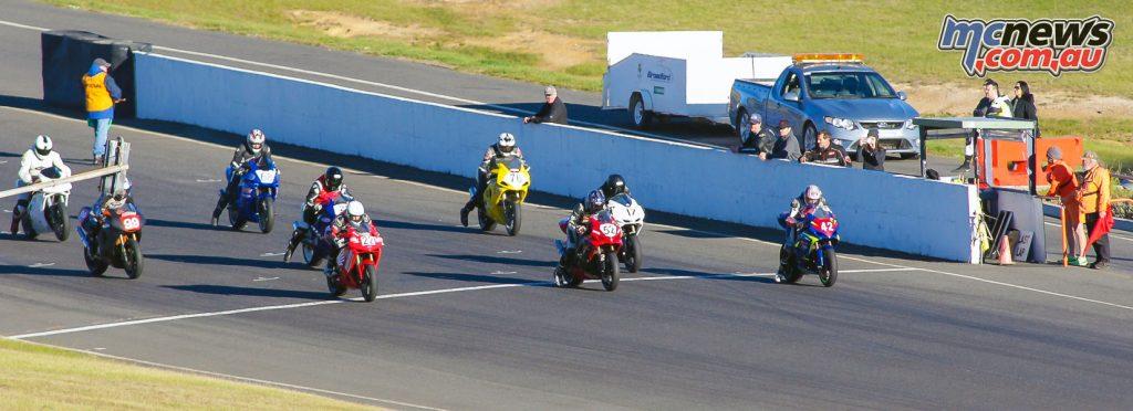 Formula 2 start line
