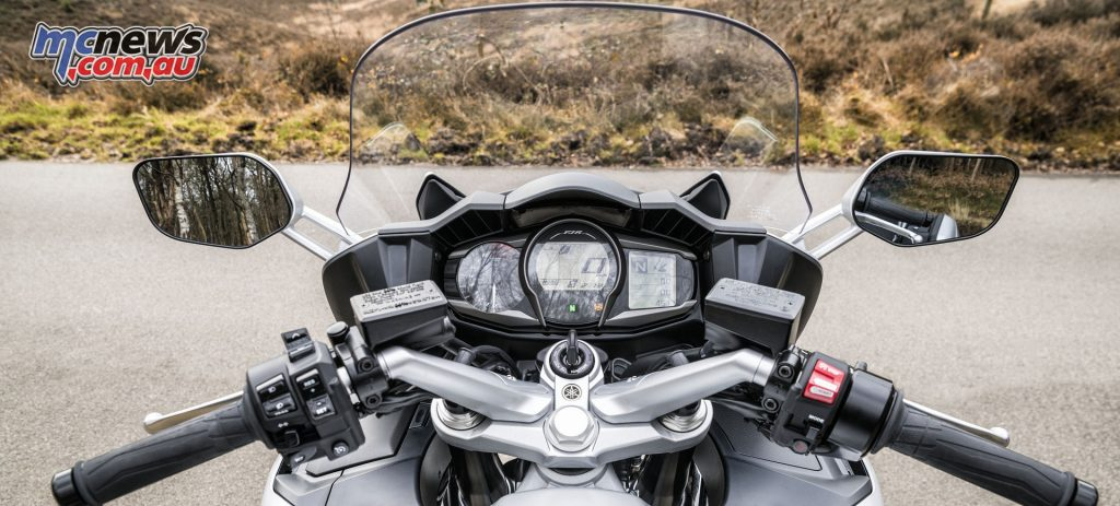 The Yamaha FJR1300 includes all the comforts like heated grips and cruise control