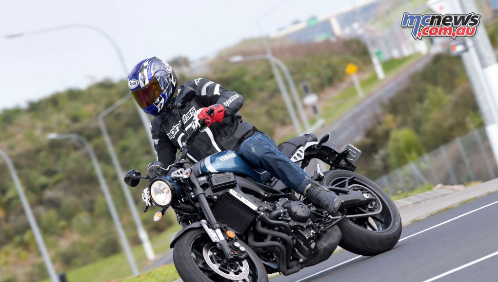 Yamaha's triple-cylinder XSR900, using the powerplant found on the MT-09