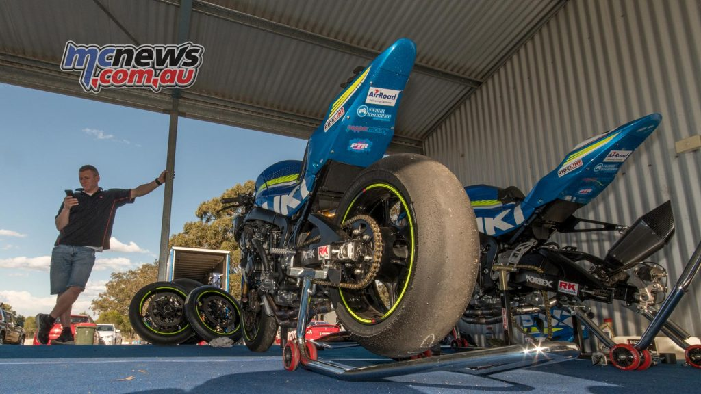 Josh Waters Suzuki GSX-R1000 in the pits at Morgan Park - Image by Half Light