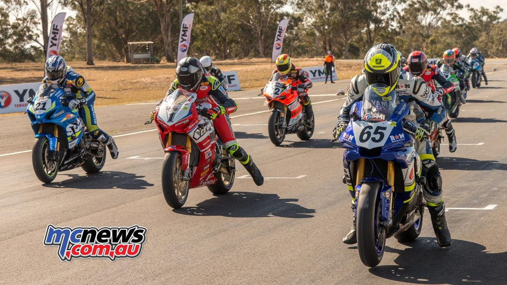 Morgan Park ASBK Superbike Race Two Start - Image by Half Light