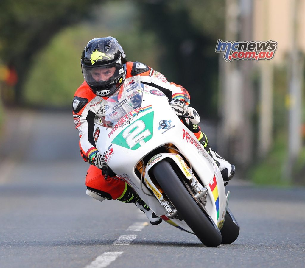 Bruce Anstey (250 Honda/Padgetts Motorcycles.com) at Douglas Road corner, Kirk Michael during Friday evening's Classic TT qualifying session. PICTURE BY DAVE KNEEN/PACEMAKER PRESS