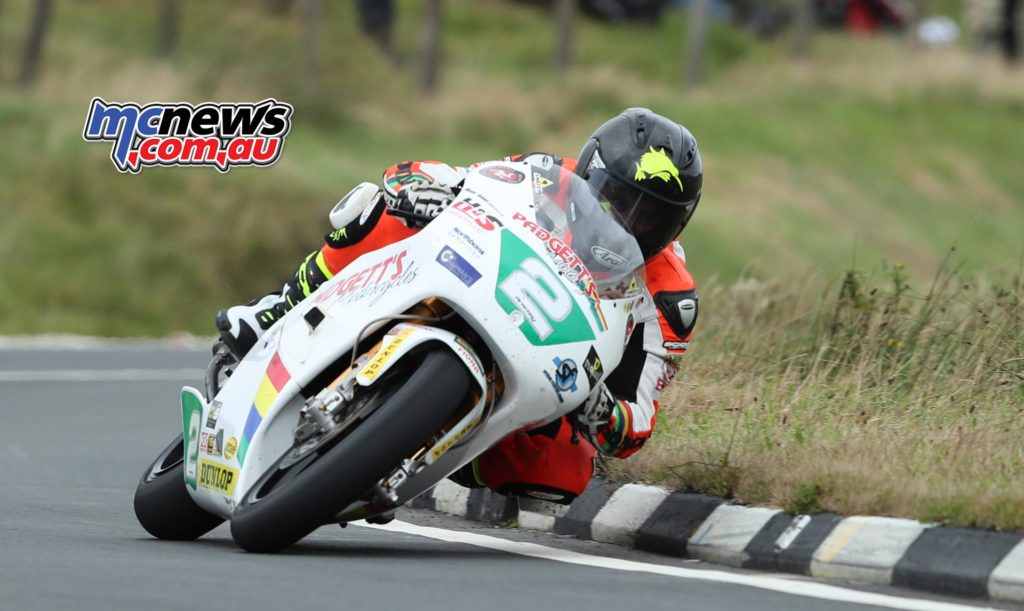Bruce Anstey (250 Honda/Padgetts Motorcycles.com) at The Bungalow during the Dunlop Lightweight Classic TT race. PICTURE BY DAVE KNEEN\PACEMAKER PRESS