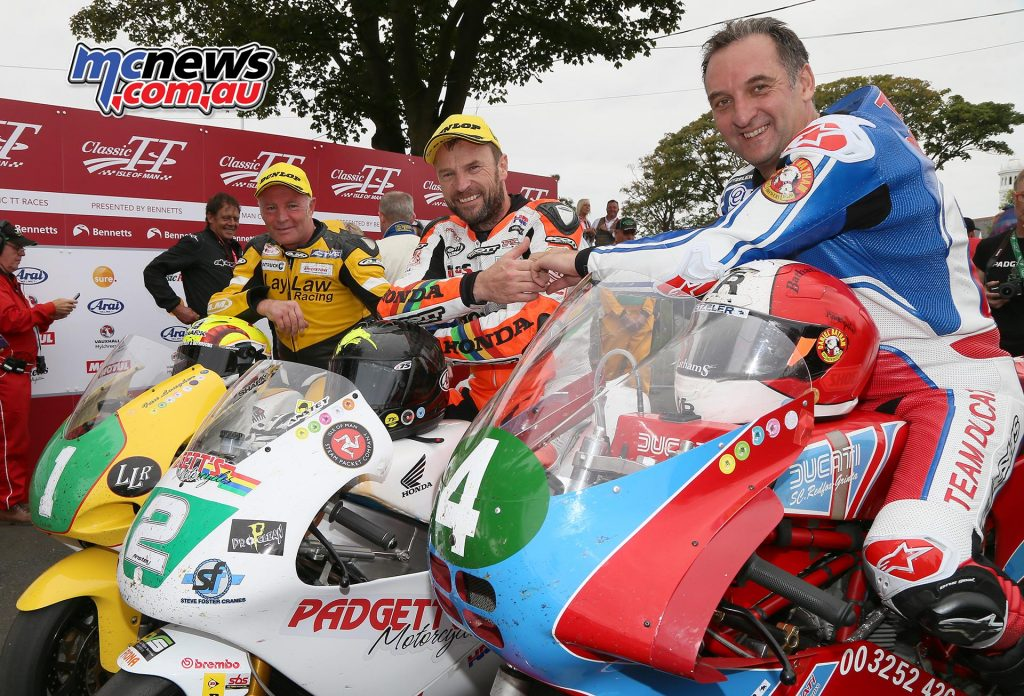 Lightweight TT Results - Classic TT 2017  Bruce Anstey Honda / Padgetts Motorcycles.com 01:16:50.072 117.853 GP Silver Michael Rutter Ducati / Red Fox Grinta Racing 01:18:14.929 115.723 F2GP Silver Ian Lougher Yamaha / Laylaw Racing 01:18:17.289 115.665 GP Silver