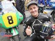Josh Brookes celebrates his first Classic TT win. Photo Stephen Davison / Pacemaker Press Intl