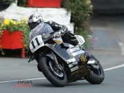 Josh Brookes (588 Norton/Advanced Performance Coatings, Isle of Wight) at Ballacraine during qualifying for the Bennett'€™s Classic TT.