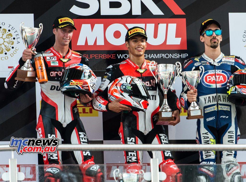 Superstock 1000 Race Results Proseccco DOC German Round  Rinaldi - Ducati Jones - Ducati +2.162 Tamburini - Yamaha +10.407