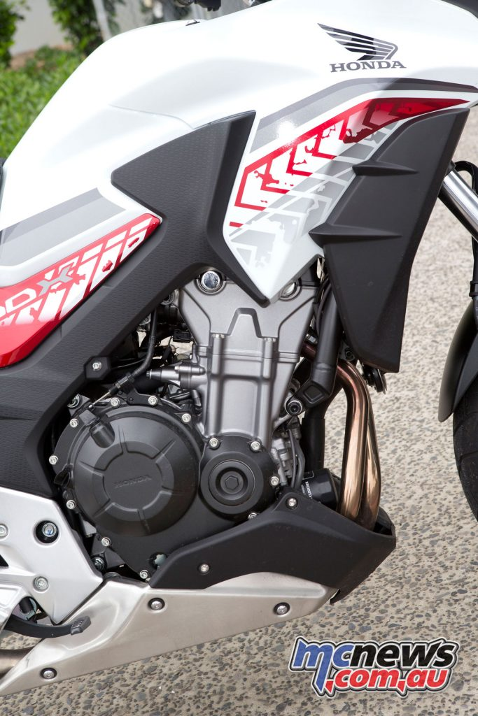 Power from the parallel twin is 35kW but enough to propel the CB500X to enjoyable speeds