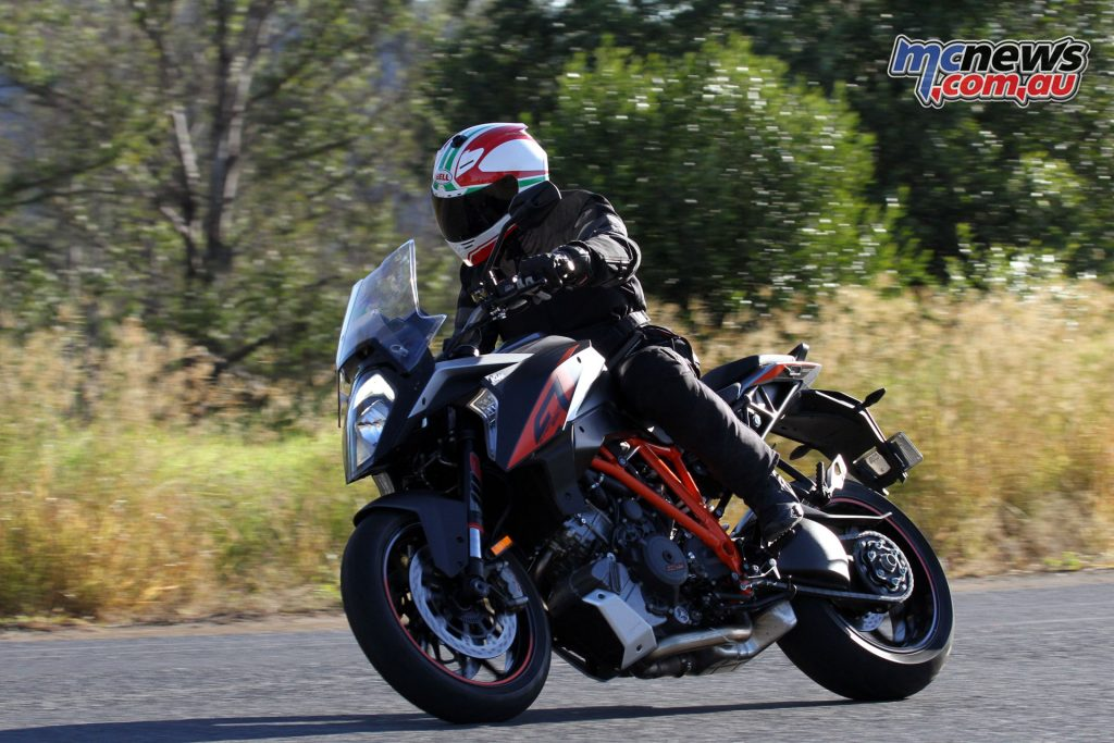 The Super Duke GT feels more planted than it's angrier sibling, the R