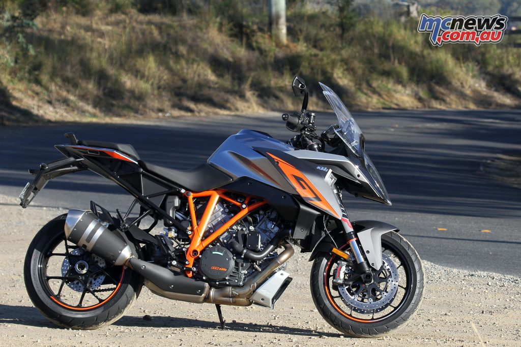 KTM's 2017 1290 Super Duke GT, the road touring variant of the Super Duke R