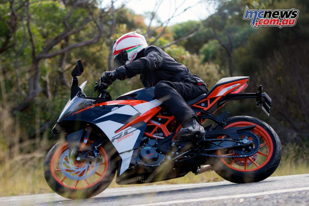 KTM's 2017 RC 390 boasts 44hp and a weight of just 147kg and is LAMS compliant