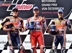 MotoGP Podium Austria - Marquez, Dovizioso, Pedrosa