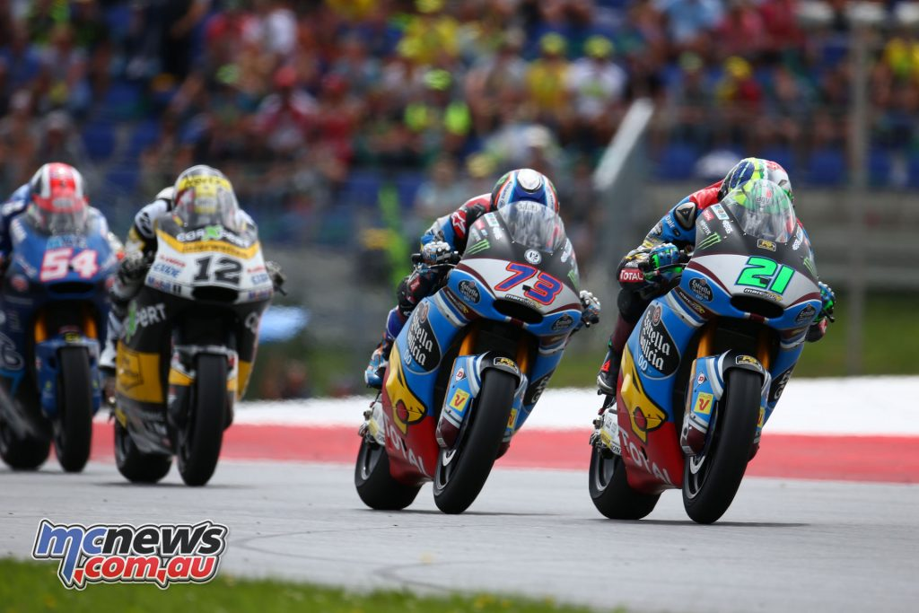 Morbidelli leads in Austria