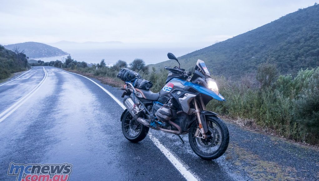 The R 1200 GS Rallye X pictured on the road back out of Wilsons Promontory