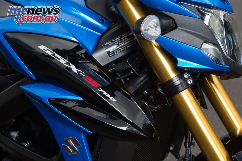 KYB 41mm inverted forks may only be preload adjustable but offer strong performance