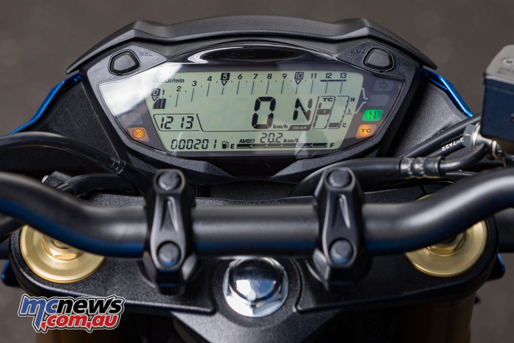 The GSX-S dash has been carried across