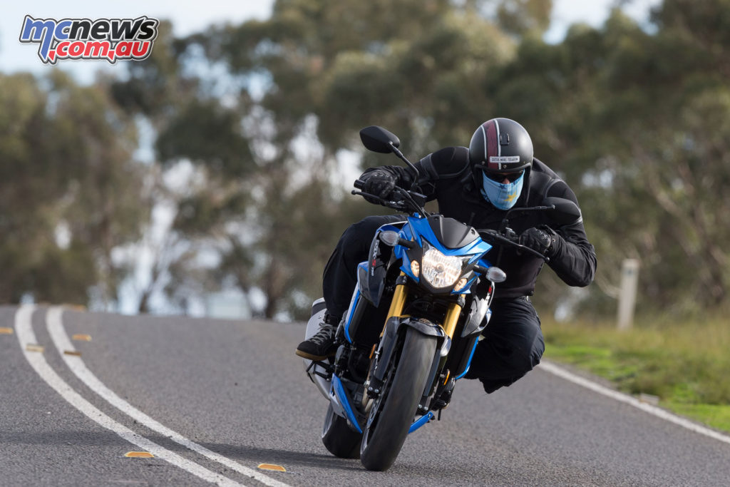 The GSX-S750 literally wails out a classic in-line four song when you're being enthusiastic