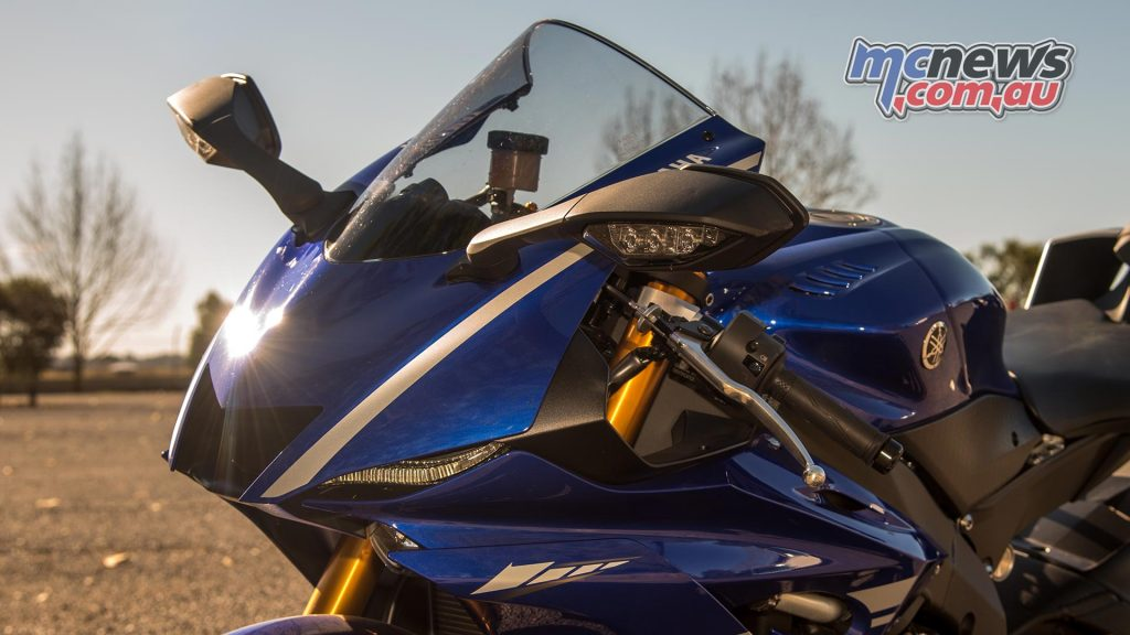 R1 derived low-drag front fairing with recessed LED headlights - Image by HalfLight