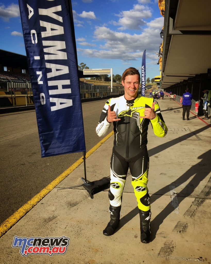 Todd Jarratt ready to rock with the R6 at Sydney Motorsports Park