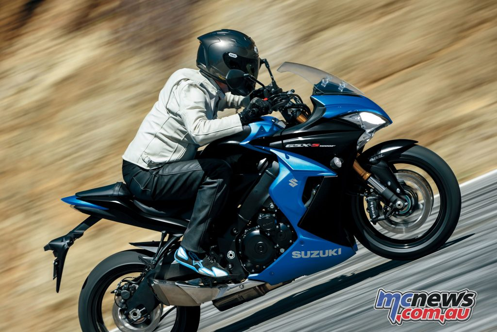 The GSX-S1000F is available from Australian dealerships for a recommended retail price of $15,990 + ORC ($17,490 Ride Away)