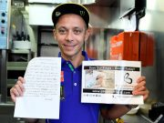 hand-written 'love letter' from famed MotoGP World Champion Valentino Rossi to his YZR-M1