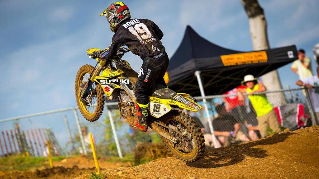 Justin Bogle is doing well as he tries to earn himself a factory ride next year. (Photo: Rich Shepherd / Racer X Online)
