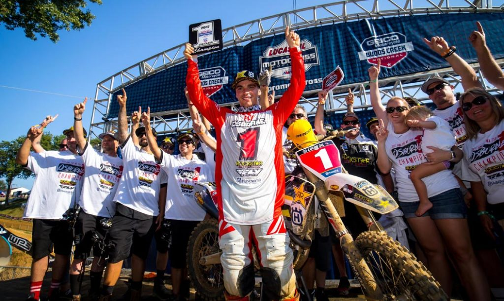 Zach Osborne clinched the 250 title with a 2nd overall at Budds Creek on Saturday! (Photo: Simon Cudby)
