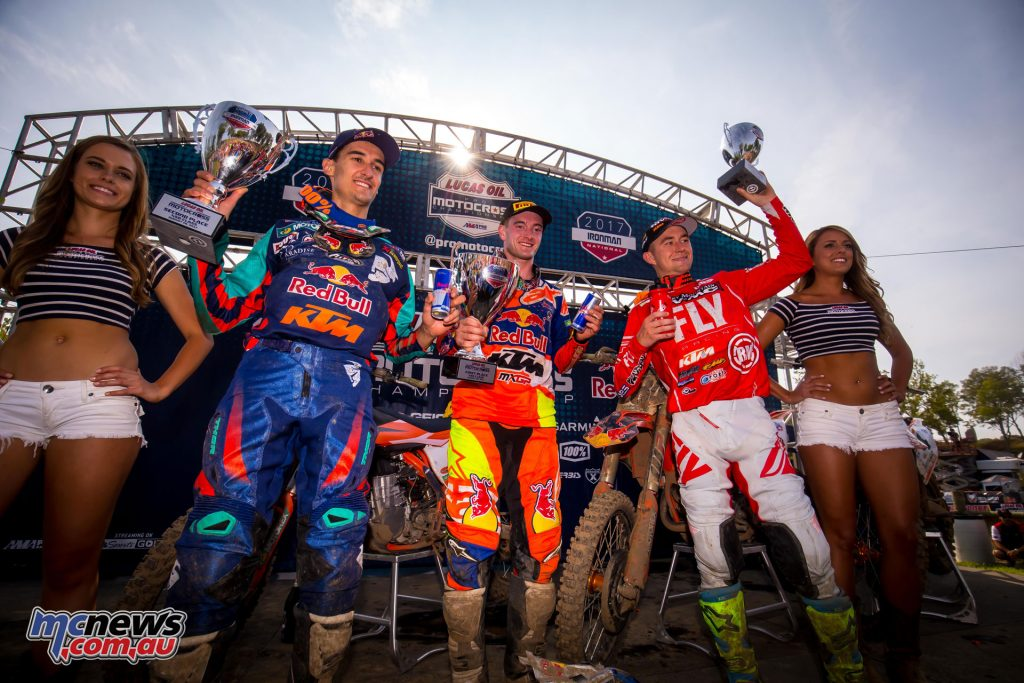 Triple KTM 450MX Podium
