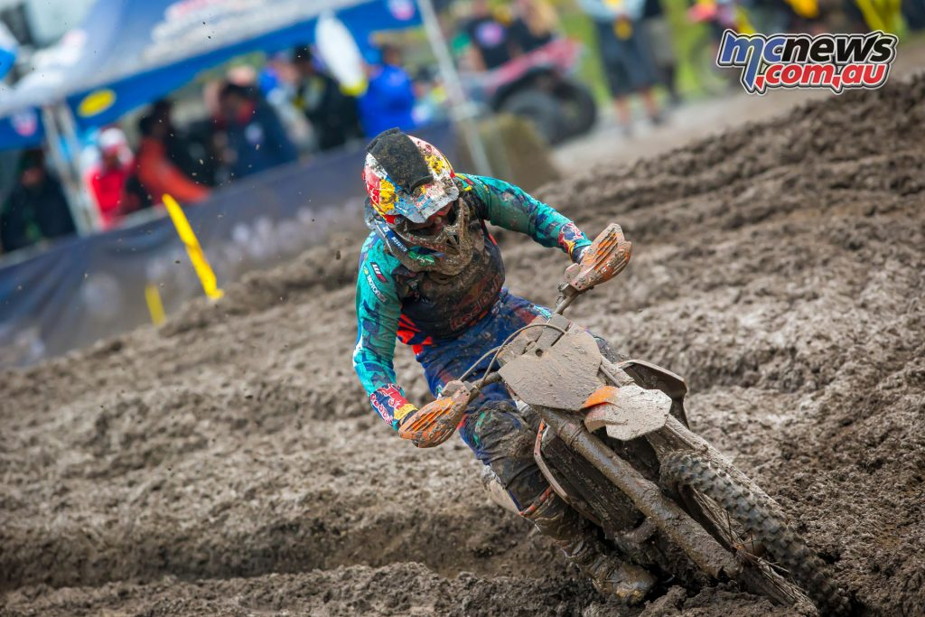 Marvin Musquin braved the conditions to take two wins from two races