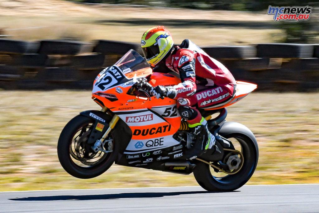 Corey Turner on the Desmosport Ducati