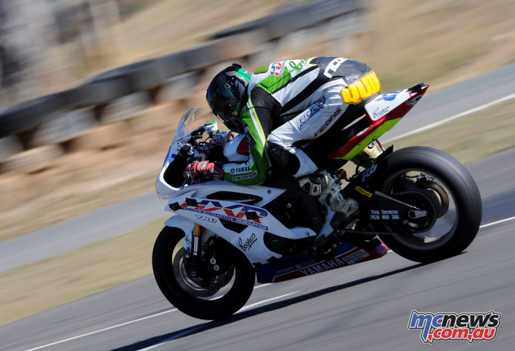 Chris Quinn topped the Supersport timesheets