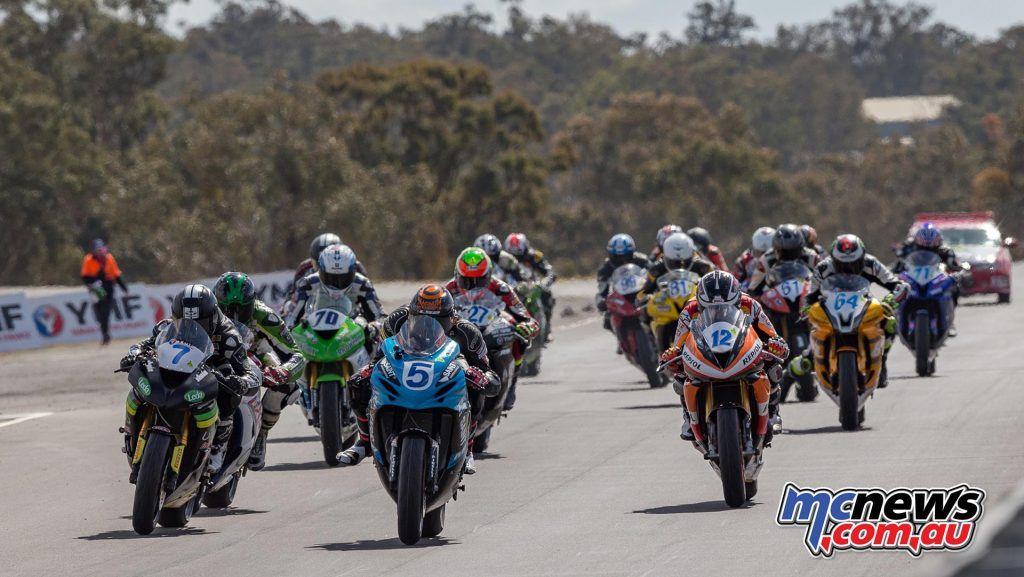 The 14-lap Motul sponsored race got underway at 1044 this morning - Image by TBG