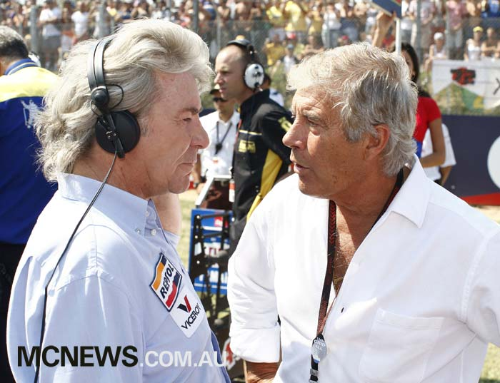 Angel Nieto with Giacomo Agostini in 2008 - Image by AJRN