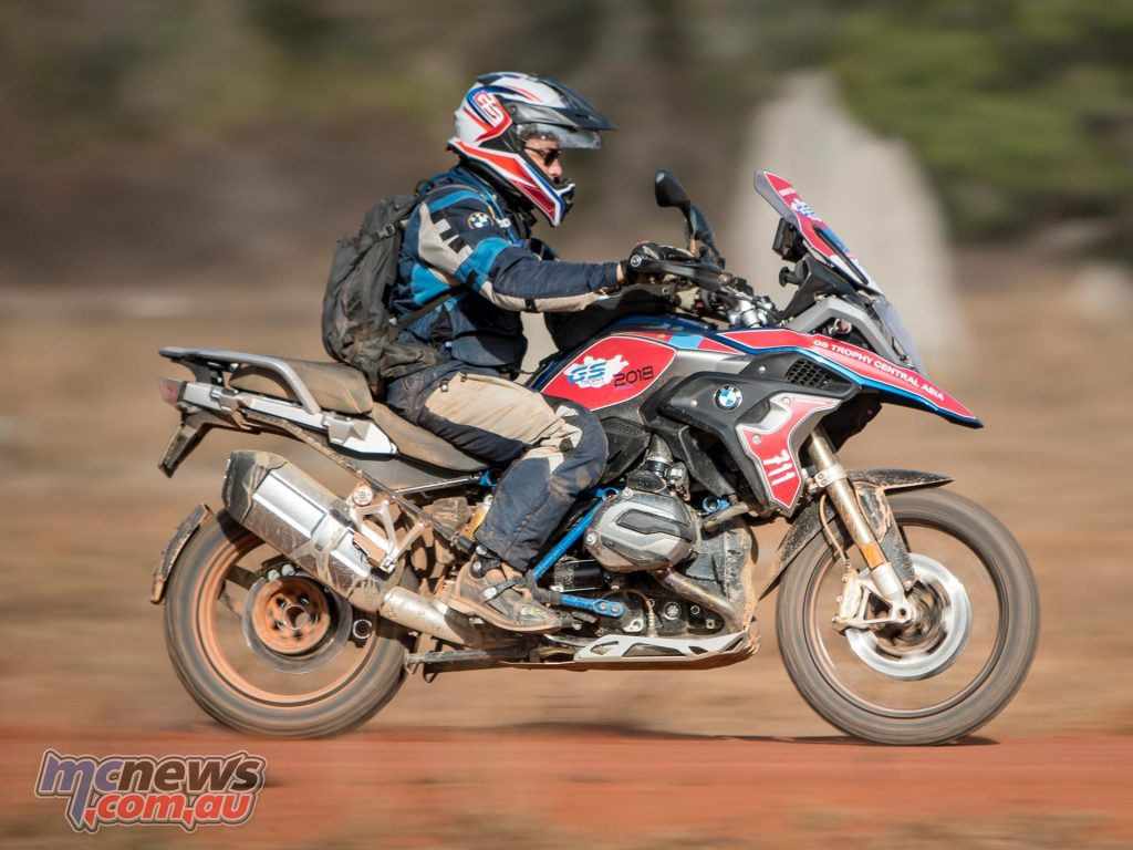 BMW Motorrad Australia General Manager Andreas Lundgren on the low version of the R 1200 GS Rallye X - Image by Dean Walters