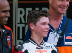 Billy with dad Brian. Mum has had to watch him from home all season to work hard to help pay the bills, but Sue also got to be present at Sepang to enjoy the moment with her boy. Which I am sure makes all the sacrifices worthwhile :-)