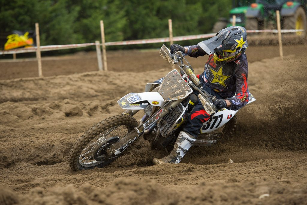 Christophe Pourcel made a bold pass on the last lap to finish second overall for the day