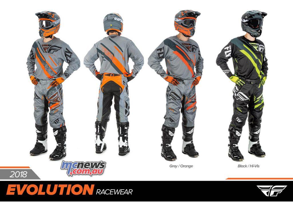 Fly Racing EVOlution 2.0 Racewear line for 2018