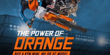 The Power of Orange deal extended to MY17 Motocross models