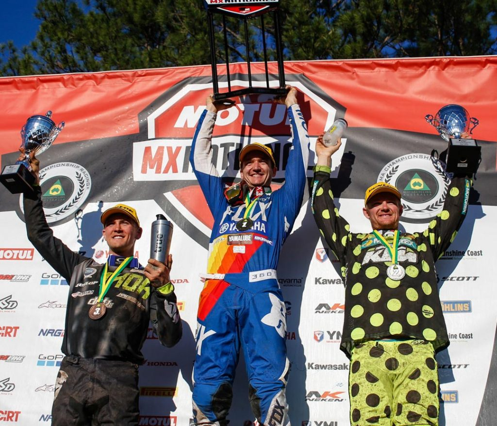 Thor MX1 Round 10 Results 1) Dean Ferris – 70 points – Yamaha 2) Todd Waters – 64 points – Honda 3) Kirk Gibbs – 60 points – KTM