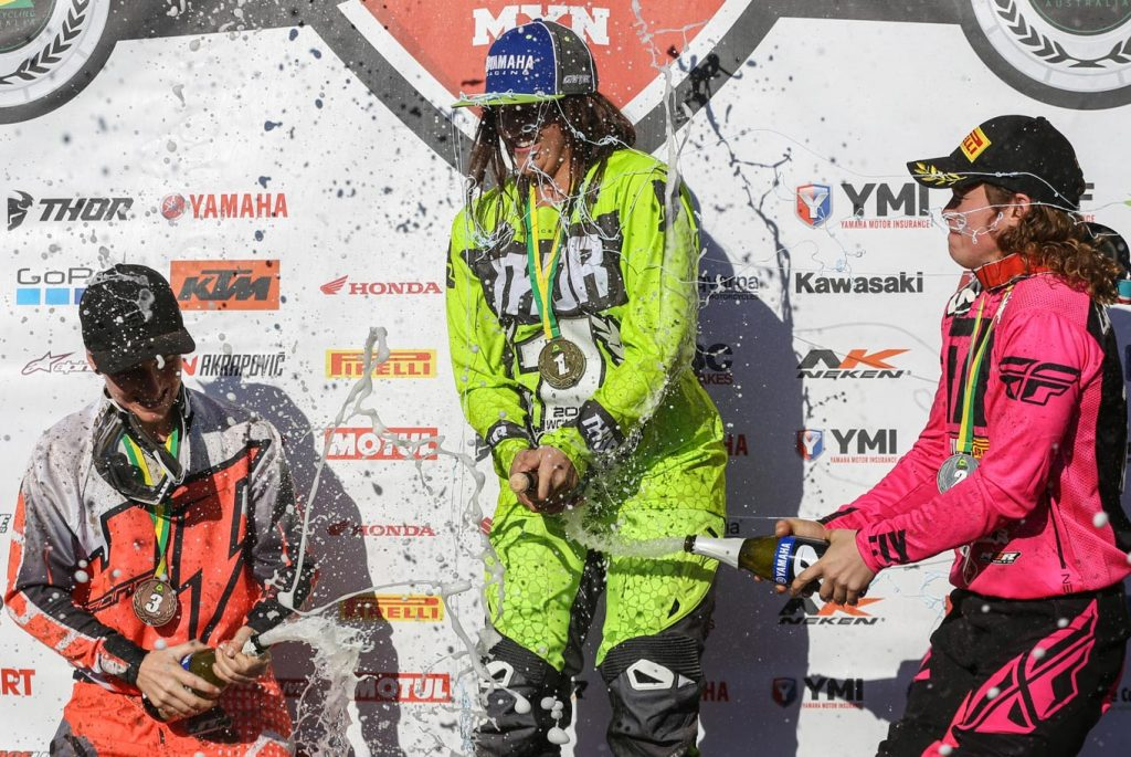 After four hard fought motos, Maddy Brown was crowned the 2017 YMF Women's Australian Champion