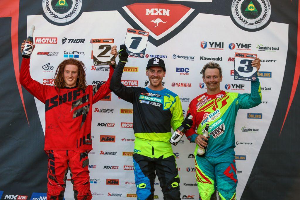 KTM Australian Amateur Cup Podium