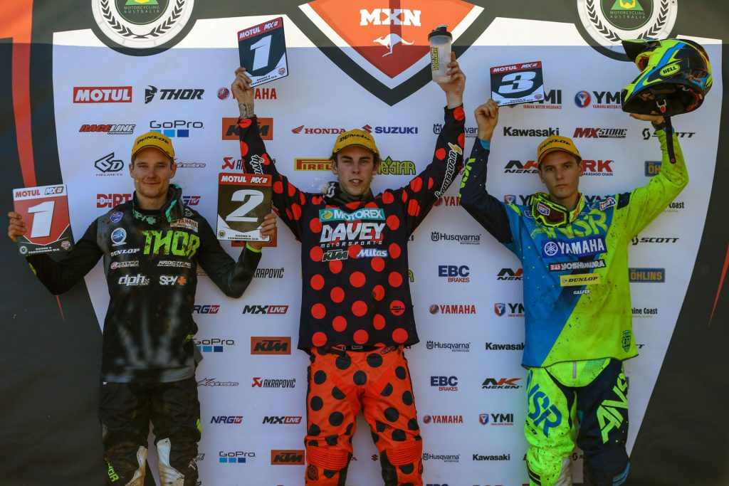 MX2 Podium at Toowoomba