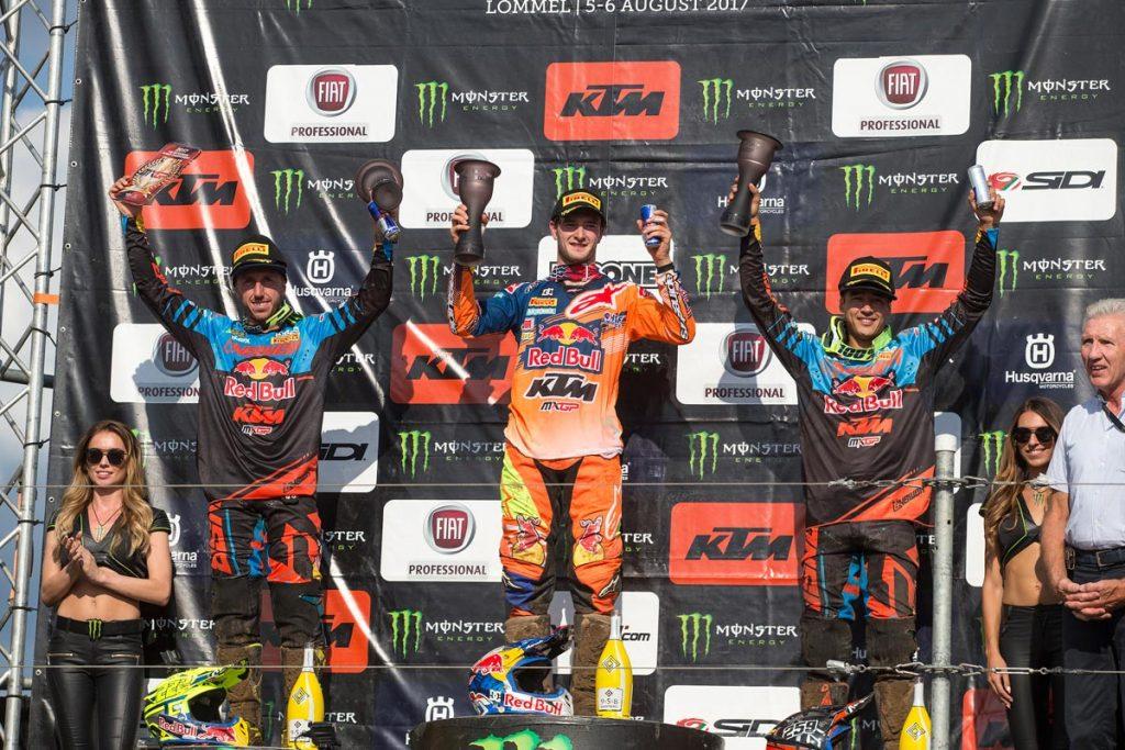 MXGP Overall Top Ten Jeffrey Herlings (NED, KTM), 50 points Antonio Cairoli (ITA, KTM), 44 p. Glenn Coldenhoff (NED, KTM), 38 p.