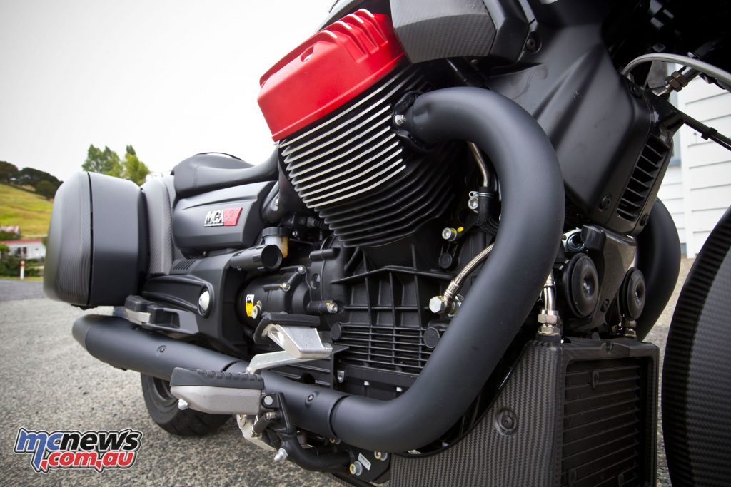 96 horsepower from the 1380cc V-twin is dwarfed by the 121Nm of torque available at 3000rpm