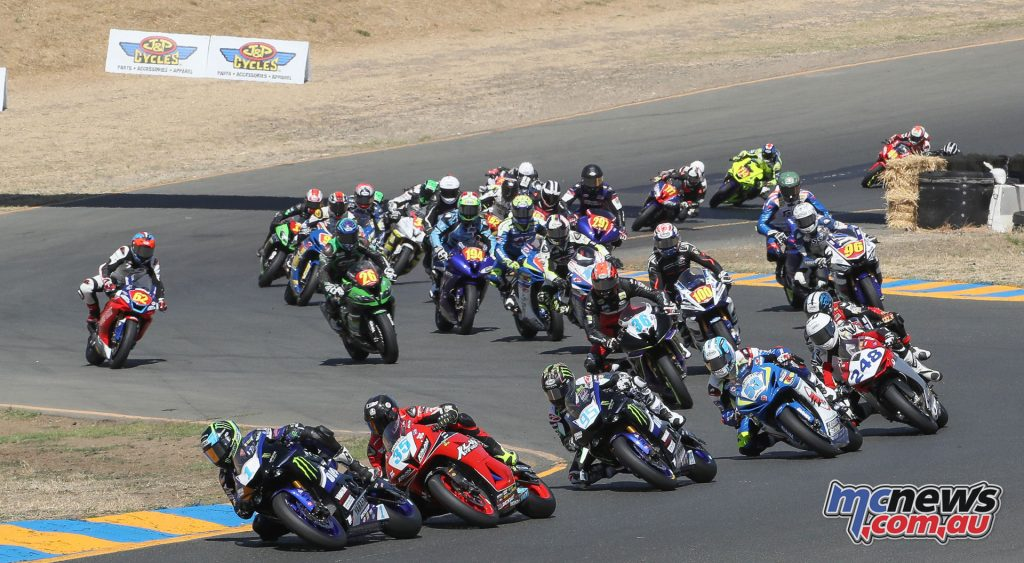 Garrett Gerloff leads the Supersport field